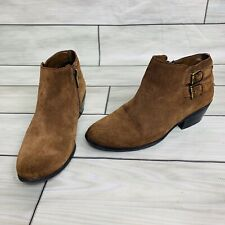 Sam Edelman Size 7 Suede Ankle Boots Brown Buckle