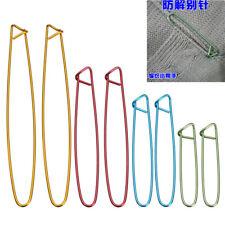 4 Sizes Aluminum Stitch Holders Pins Knit Knitting Needles Crochet Hooks Kits