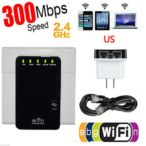 WiFi Repeater Range Extender Router Wireless Internet Signal Booster 300Mbps