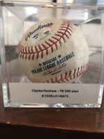 Clayton Kershaw LA Dodgers Game Used MLB Baseball 2nd Season 2009 SD Padres