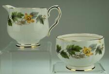 Serenity by Royal Stafford Bone China Milk Jug & Sugar Bowl Yellow Flowers VA97