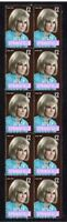 DUSTY SPRINGFIELD STRIP OF 10 MINT VIGNETTE STAMPS 2