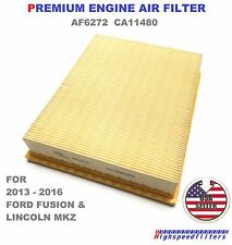 AF6272 PREMIUM ENGINE AIR FILTER For New Ford Edge Fusion Lincoln MKZ CA11480