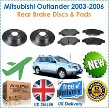 For Mitsubishi Outlander 2.4i Mivec 2003-2006 Rear Brake Discs & Disc Pads Set