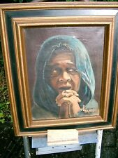 "1970 Original Signed Pat Hammond Oil Painting ""Refugee""  Framed"