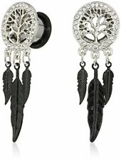 Accent Tree of Life Feather Dangl. Body Candy Women's Steel Single Flare Clear