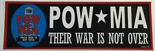 """POW - MIA - There War Is Not Over - 3"""" x 9"""" Bumper Sticker"""