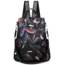 Women Men Zip Up Casual Shoulder Bag Backpack Schoolbag Loose Zipper Pack Travel