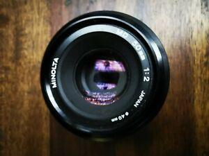 Minolta Lens MD50mm 1:2 49mm Dia Made In Japan