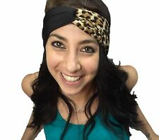 Women's Leopard Print Spandex Twist Headband