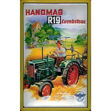 "HANOMAG R19 TRACTOR, EMBOSSED(3D) ADVERTISING SIGN 12""X 8"" (30 X 20cm) GERMAN"