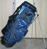 Golfbag Golftasche Tragebag mit Ständerwerk PROTECH blau mit Rucksackgurt