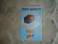 1957 NEW YORK GIANTS MEDIA GUIDE Press Book NY FINALE Yearbook San Francisco AD