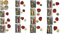 Wax Seal Stamp Hexagonal Craft Kits in 17 Designs with Wax Stick & Free UK post