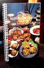 Chesapeake Bay Gourmet Seafood Recipes by Margie Kauffman 1997 SC Spiral OOP