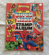 ALBUM - MARVEL SUPER HEROES STAMP ALBUM (1976) - INCOMPLET - NO PANINI