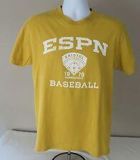 ESPN Baseball Tonight 1979 Bristol Connecticut Yellow Short Sleeve Tee Shirt M