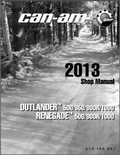 2013-2014 Can-Am Outlander X mr / Renegate (500 650 800R 1000) Service Manual CD