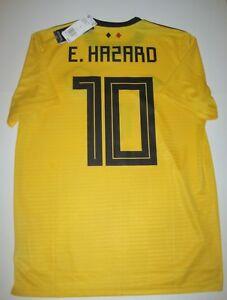 2018 2019 Adidas Belgium Eden Hazard Away Kit Jersey New