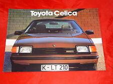 TOYOTA Celica Coupe Liftback ST XT GT Prospekt von 1982