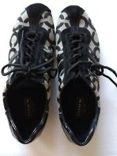 Authentic Coach Black/Gray Size 6 M Women Lace-Up Shoes, pre-owned!