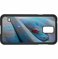 Poisionous Blue Snake Hard Case Cover For Samsung New