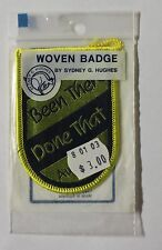 BEEN THERE DONE THAT AUSTRALIA WOVEN BADGE,SYDNEY G HUGHES WOVEN BADGE AUSTRALIA