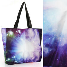 2018 Women Lens Flare Space Shoulder Print Galaxy Handbag Laptop Shopping Bag OS