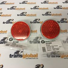Land Rover Series 1 2 2a & 3 Pair Rear Round Reflectors - OEM - 551595 x2