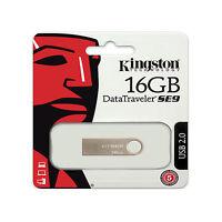 Kingston 16GB DataTraveler SE9 USB 2.0 Flash Drive Memory Stick Pen Thumb DTSE9