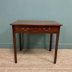 George III Figured Mahogany Antique Side Table