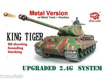 Rc tank longues HENG King Tiger 2.4G radio télécommande Pro BB shoot tank