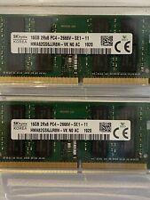 Hynix 32GB (16GB x 2) DDR4 PC4-21300 2666MHz 260-pin SO-DIMM Laptop Memory