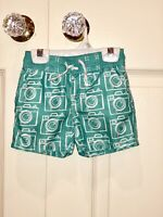 Baby Gap Infant Boy 12-18 Months Bathing Suit Swimming Trunks Teal Cameras 12 18