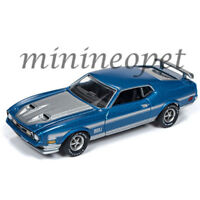 AUTOWORLD AWSP016 A 1972 FORD MUSTANG MACH 1 1/64 DIECAST MEDIUM BLUE