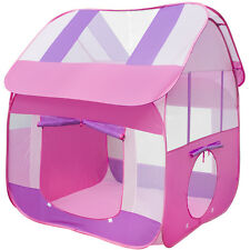 Matney Playhouse Tent for Girls, Kids - Includes Portable Carry Bag (Pink)