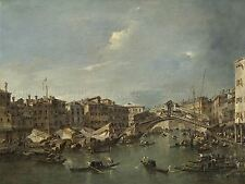 FRANCESCO GUARDI ITALIAN GRAND CANAL RIALTO BRIDGE VENICE ARTWORK PRINT BB5336A