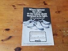 Advertising American Pubblicità * TENNIS *  WILSON SHOES type 2 ( 1978 )
