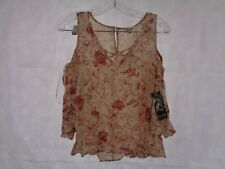 One Hart Juniors Floral Cold Shoulder Ruffle Sleeve Top XS / S / M / L NWT