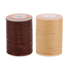 2 Spools Round Waxed String Sewing Thread For Leather Craft Handwork 5.5mm