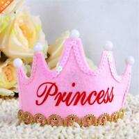 Prince Princess Crown Birthday Party LED Light up Hat Cap Tiara for Kid Adult