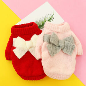 Pet Clothes Sweater For Small Dog Yorkie Maltese Poodle Knitted Jumper outfit