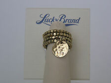 Lucky Brand Gold Tone Rings w/Beads & Charm – Set of 4, Size 7