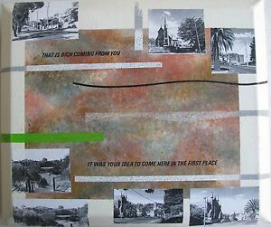 BEN WALLS AUSTRALIAN MODERN ART ABSTRACT MIXED MEDIA 2005