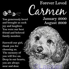 Personalized Cockapoo Dog Pet Memorial 12x12 Granite Headstone Grave Marker