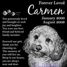 New ListingPersonalized Cockapoo Dog Pet Memorial 12x12 Granite Headstone Grave Marker
