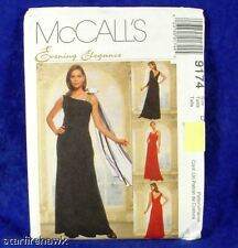 McCall's 9174 Evening Elegance Asymetrical Gown sz10-14