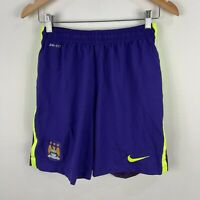 Nike Manchester City Football Soccer Shorts Mens Medium Slim Asian Size Purple
