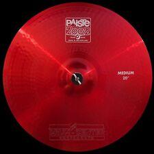 "Paiste 2002 Medium Crash Cymbal 20"" Red Color Sound CUSTOM ORDER"