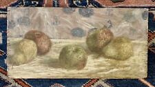 Antique French Impressionist Still Life Fruit School of Renoir Pears Apples